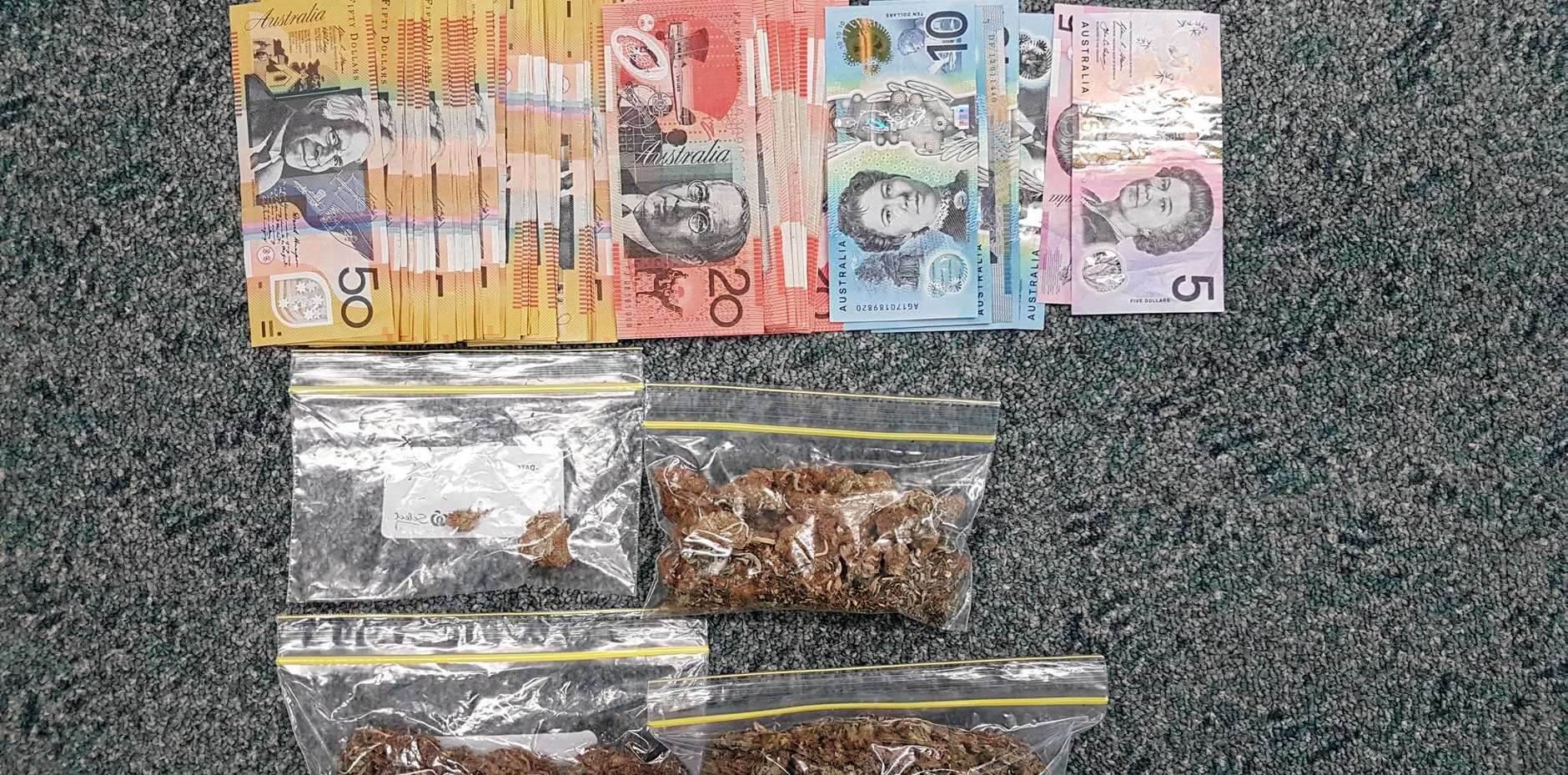 Police allegedly found these items in an Andergrove home.