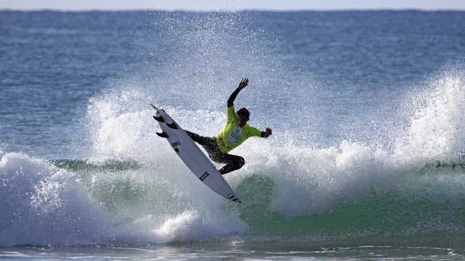 RIDING HIGH: Evans Head surfer Callum Robson will compete in the Skullcandy Oz Grom Open.