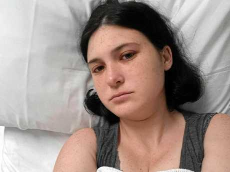 Redbank Plains mum Jessica  Anderson suffered Hyperemesis Gravidarum, a rare pregnancy condition best described as extreme morning sickness. She lost 25 kgs during the 28 week ordeal.