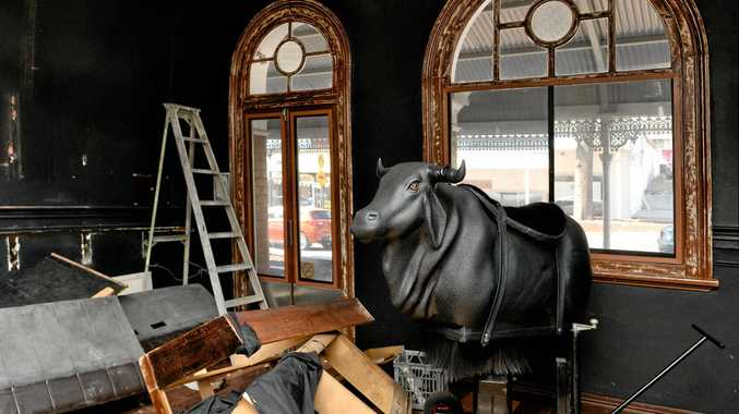 CBD BUSINESS: Johnny Ringo's resident bucking bull Ranga has left town after the once-popular bar closed.
