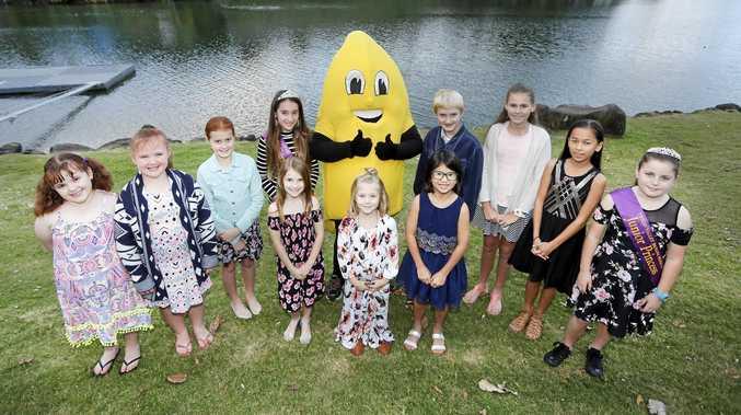 CELEBRATE: Banana Festival 2018 Junior Princess and Senior Princess contestants get ready for the coming judging sessions.