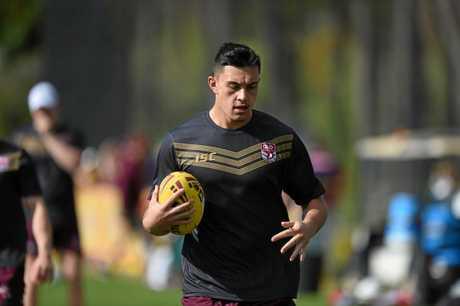 Tino Fa'asuamaleaui during training.