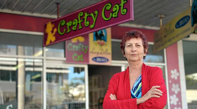 'NO CHOICE': Lucy Dillon says she's being forced to move -- or close -- Crafty Cat due to high rent and low pedestrian traffic.