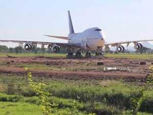 Abandoned plane in Bali field