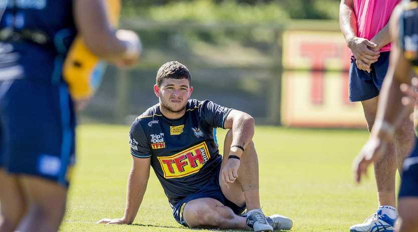 Ash Taylor admits to letting Origin speculation affect his performance for the Titans. Picture: Jerad Williams