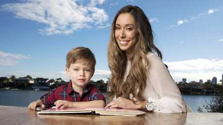The Gold Coast's Haley Hughes is weighing up which school will best suit her son Harry. Picture: Nigel Hallett