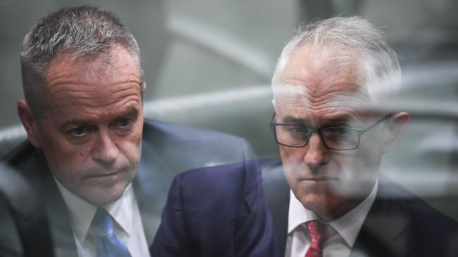 Opposition Leader Bill Shorten and Prime Minister Malcolm Turnbull have outlined why they make the better PM. Picture: AAP/Lukas Coch
