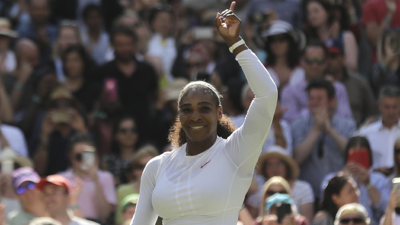 Can anyone stop Serena at Wimbledon? Picture: AP.