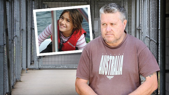 Rick Thorburn, who is serving a life sentence for killing foster daughter Tiahleigh Palmer, inset, has been moved to Woodford Correctional Centre.