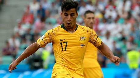 Graham Arnold sees Daniel Arzani as having a vital goalscoring role for Australia. Picture: Toby Zerna