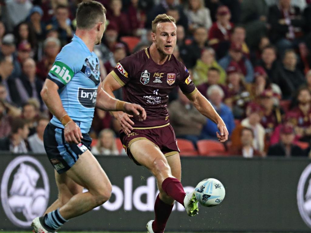 The maroons No.7's kicking game was brilliant. Picture: Annette Dew