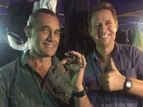 Perth-based diver Craig Challen and Dr Richard Harris. Picture: Supplied