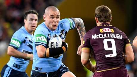 David Klemmer ran strongly but a stupid penalty gave Queensland a leg up at a crucial time. (Photo by Bradley Kanaris/Getty Images)
