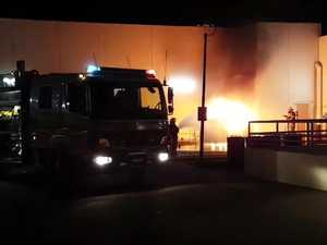 Bin blaze terrifies shop owners