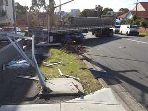 Truck, trailer, defected after Rosehill crash