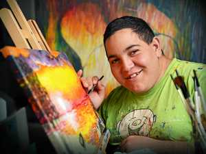Gifted teen's vision comes to life on blank canvas
