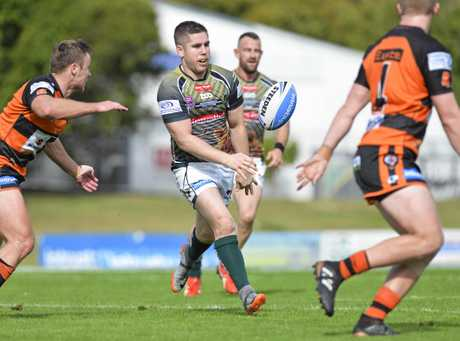 Ipswich's Dane Phillips in the Intrust Super Cup between Jets and East Tigers at the North Ipswich Reserve.