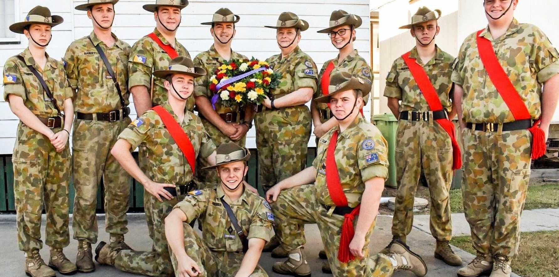 CLAN: The Dalby Army Cadets on Anzac Day this year.