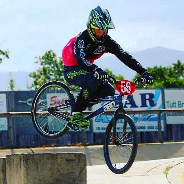 Anthony Pendlebury riding BMX before his accident
