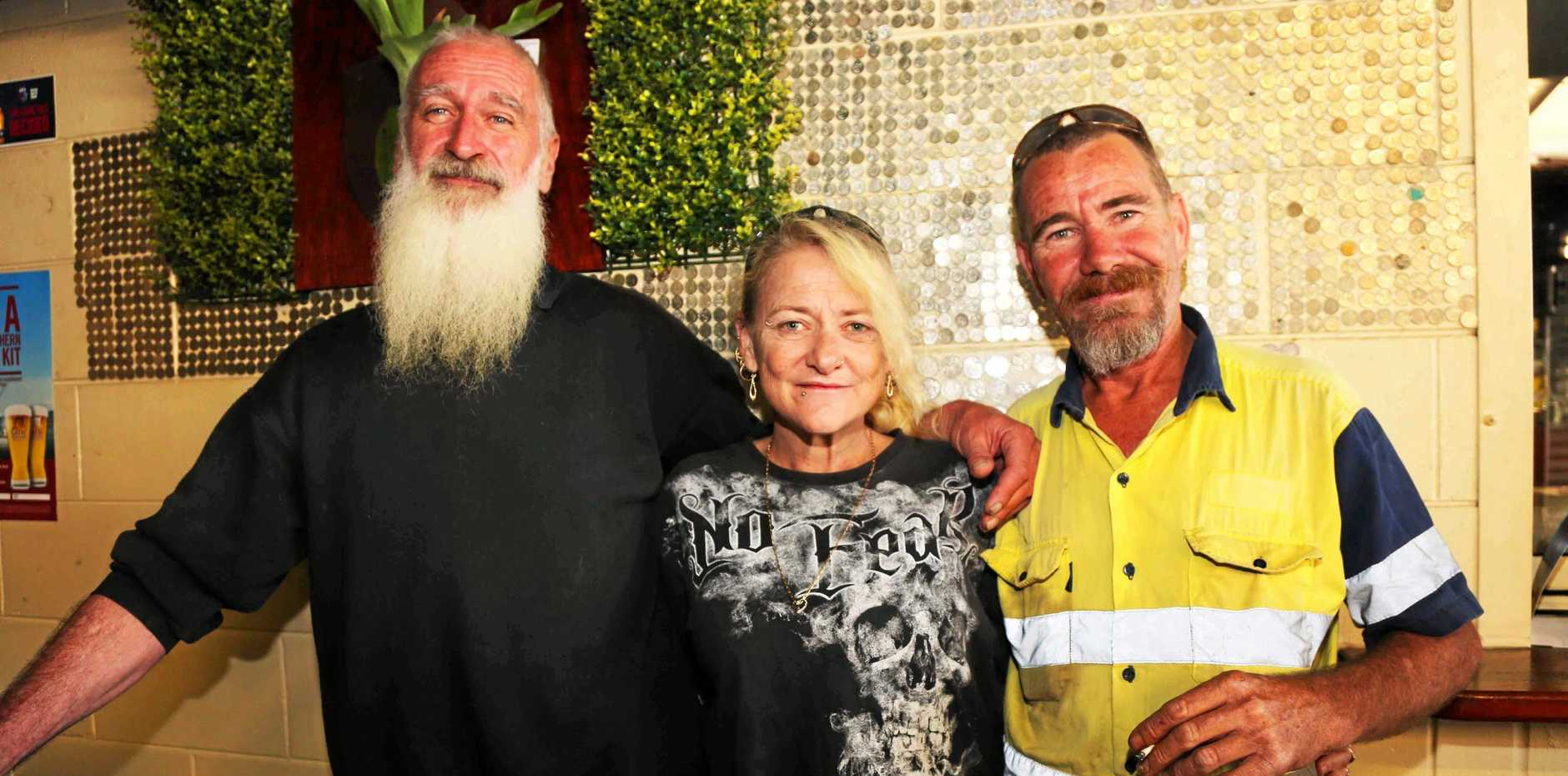 FOR A GOOD CAUSE: Mark Holmes, Sasha O'Sullivan and Gavin Le Strange have all helped raise money for the RACQ CQ Rescue Helicopter Service.