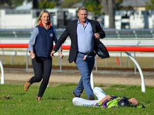 Jockey survives horror race fall at Grafton