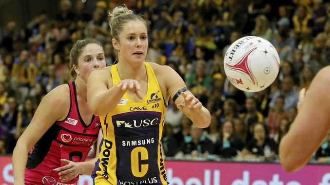 GAME ON: Lightning's Laura Scherian will be in action in a crucial clash against the Collingwood Magpies on Saturday.