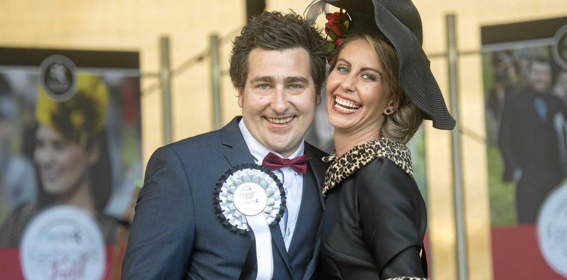 Scott Fawcett and Cathlene Navie of Grafton won the Telstra Best Dressed Couple prize.