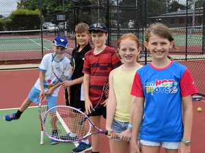 Fun day exposes kids to tennis