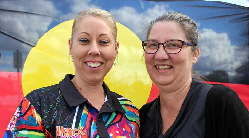 HERE FOR YOU: Teela Hyndes and Norma Slater are part of the friendly team at Carbal in Warwick who are celebrating the success of the clinic in NAIDOC Week.