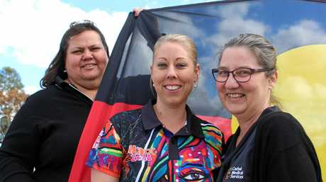 Kerry Stewart, Teela Hyndes and Norma Slater are proud staff of a clinic that is helping thousands of Aboriginal and Torres Strait Islander citizens reach better health outcomes.