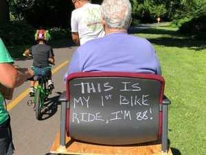 Grandma takes first bike ride at 88