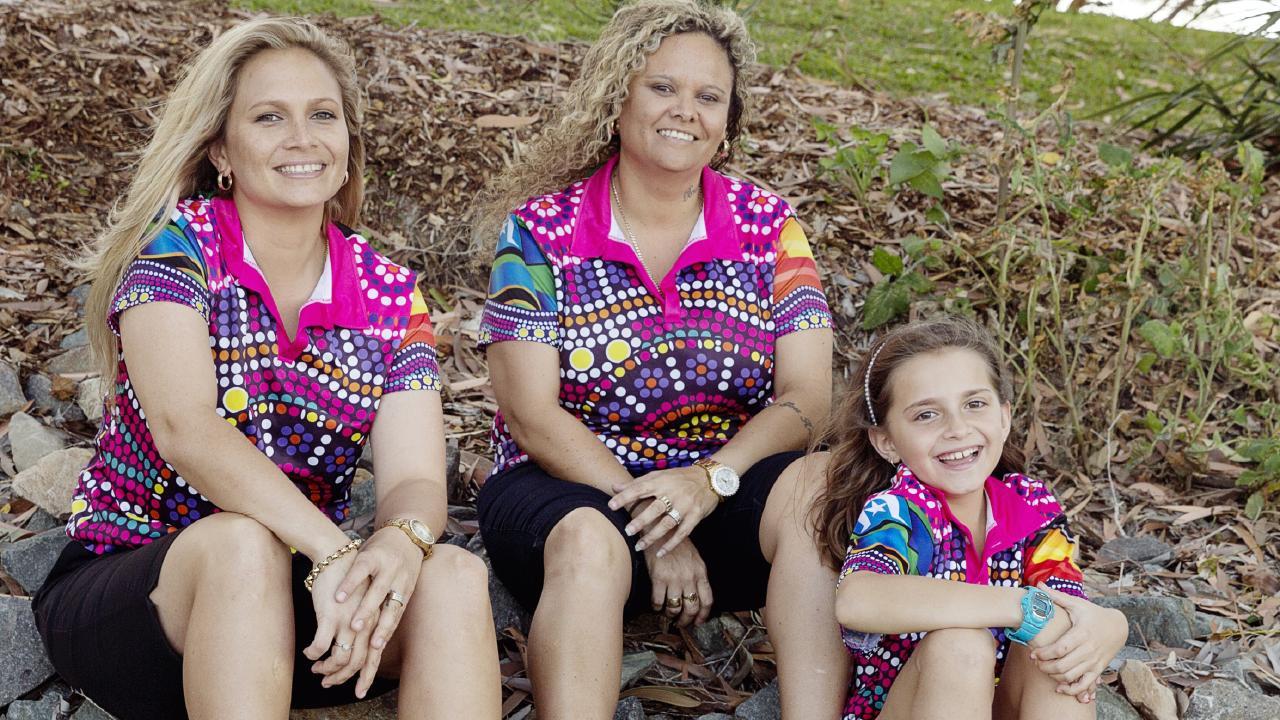 Cherrie and Bianca Brackenridge with daughter Sanije Stewart Brackenridge.