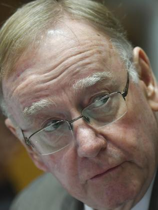 Liberal Senator Ian Macdonald speaks during Senate Estimates at Parliament House in Canberra, Thursday, May 24, 2018. Picture: AAP Image/Lukas Coch