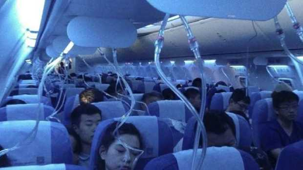 An Air China flight incident is being investigated. Picture: Weibo