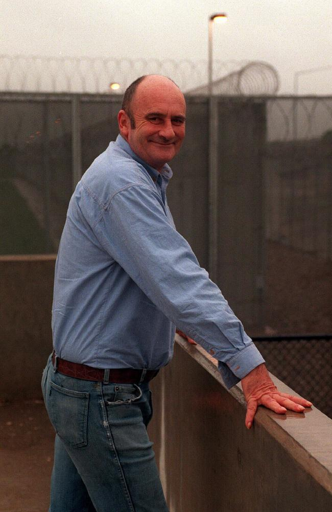 Con man Barry John Faulkner outside Silverwater jail after a doing a stint for fraud.