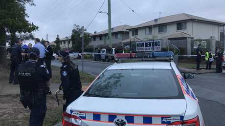The man was found with serious stab wounds about 5.45am. Picture: Jacob Miley