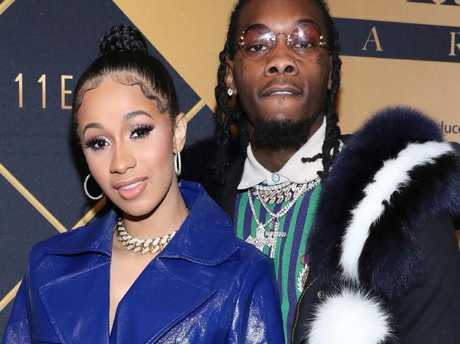 Cardi B, left, and Offset confirmed their marriage in a tweet and announced the birth of their daughter on Instagram. Picture: Omar Vega/Invision/AP