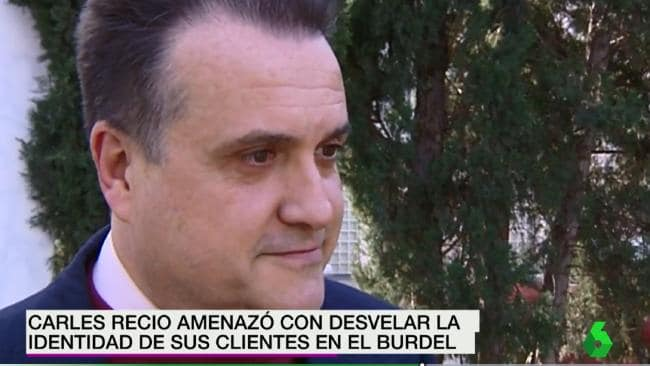 Spanish civil servant Carles Recio managed to go 10 years without working, spending his free time running a male brothel and drawing erotic comics. Picture: La Sexta