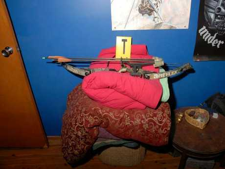 Photographs of weapons found by police in the home of Fiona and Mitchell Barbieri after Bryson Anderson was murdered.