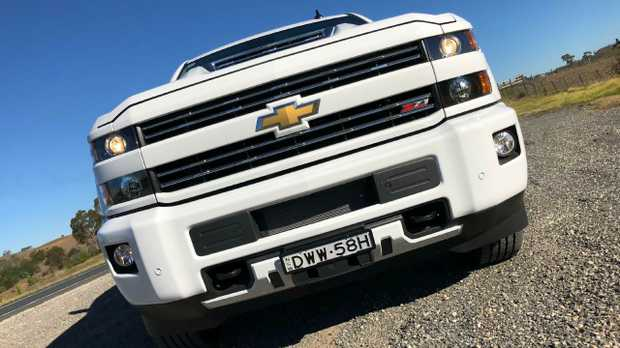 Thunder Down Under … the US Chevrolet Silverado pick-up converted by HSV and sold via selected Holden dealers. Picture: Joshua Dowling.