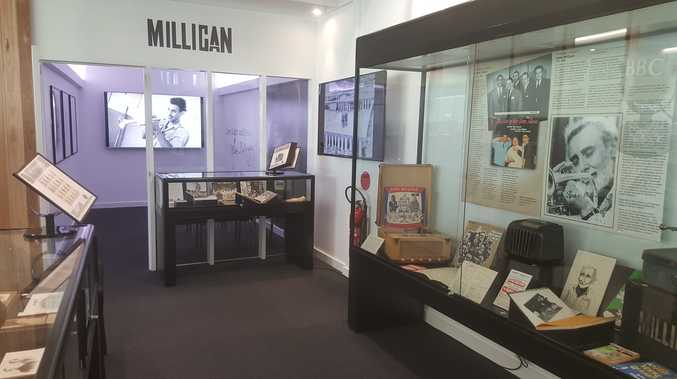 THE MANY FACES: The new Spike Milligan Exhibition at Woy Woy Library shows the man behind the comedy. Spike (1918-2002) felt Woy Woy was his second home.