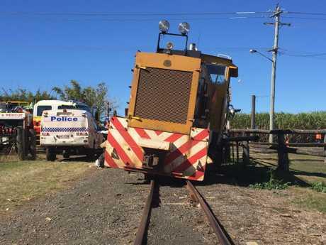 Train and car crash at Qunaba.