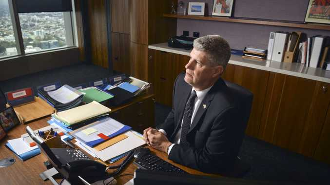 GONE: Stirling Hinchliffe reflects on the dismissal of the Ipswich City Council in his Brisbane office.