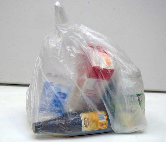 Don't tie recyclables in plastic bags.