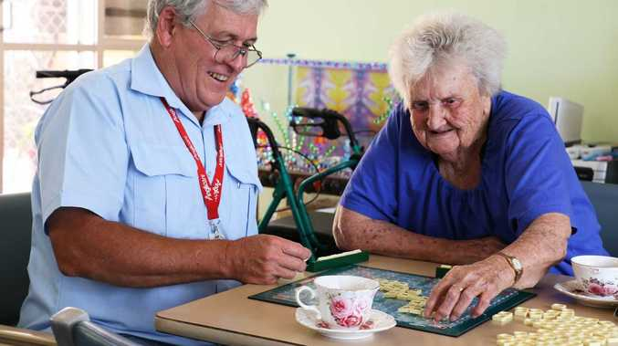 Elaine Cutts has learnt how to read and write through playing Scrabble at Anglicare's Killara Respite Centre in Cleveland, Brisbane.