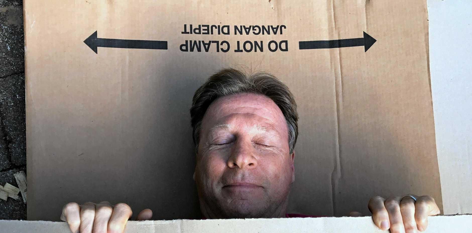 ROUGH TIME: Noosa Mayor Tony Wellington slept rough in 2017.