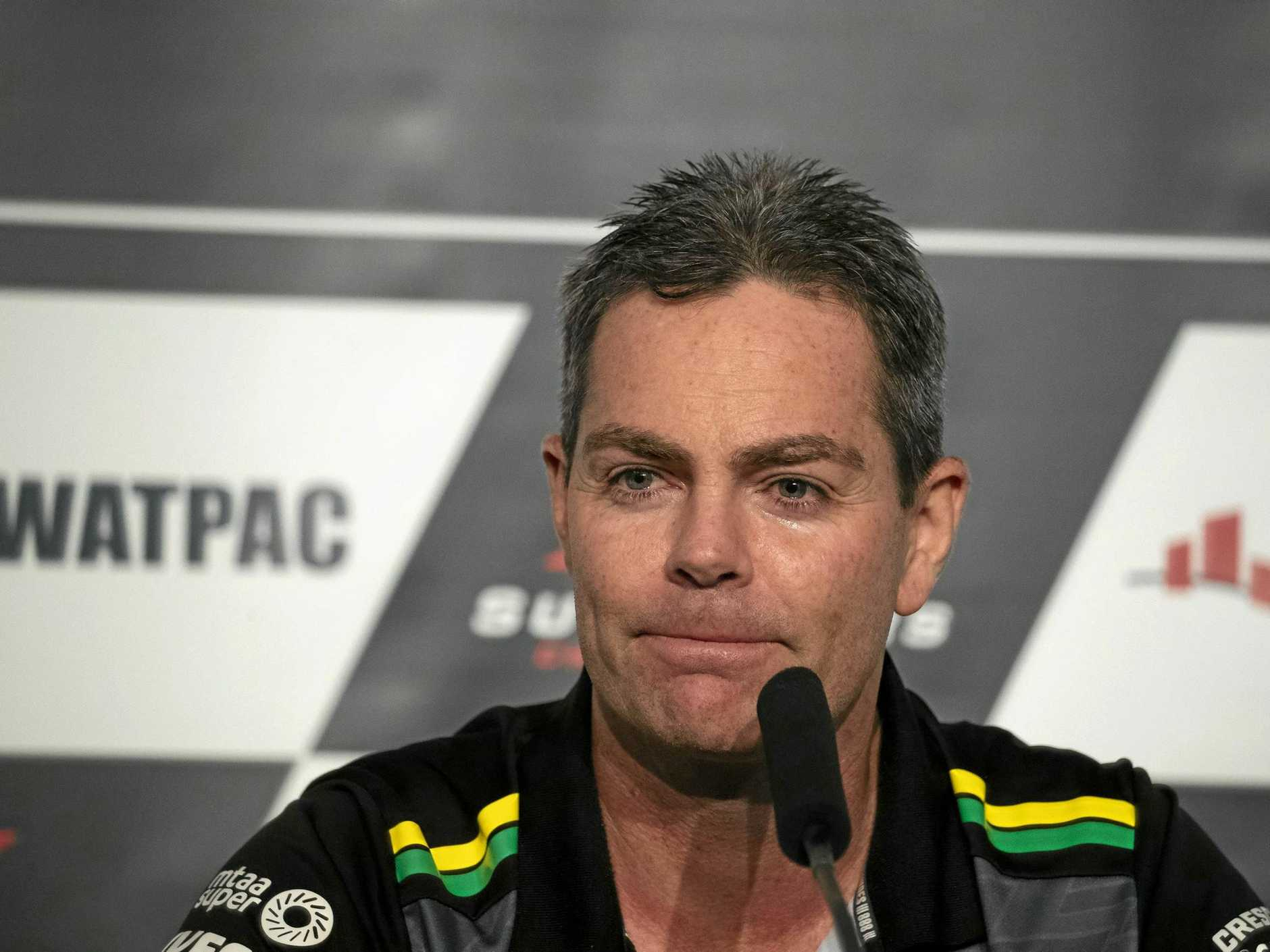 Motorsport great Craig Lowndes announces his retirement in Townsville.