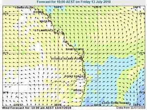 Moderate winds on the water for boaties