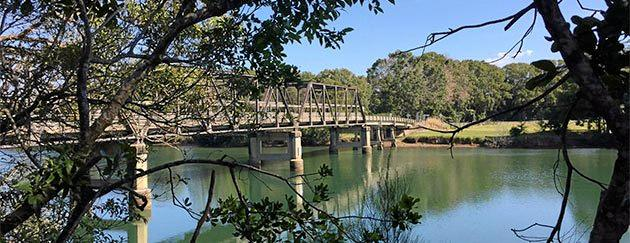 The historic Raleigh Bridge was built in 1933.