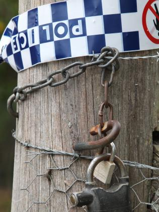 A chain and padlock at the property.